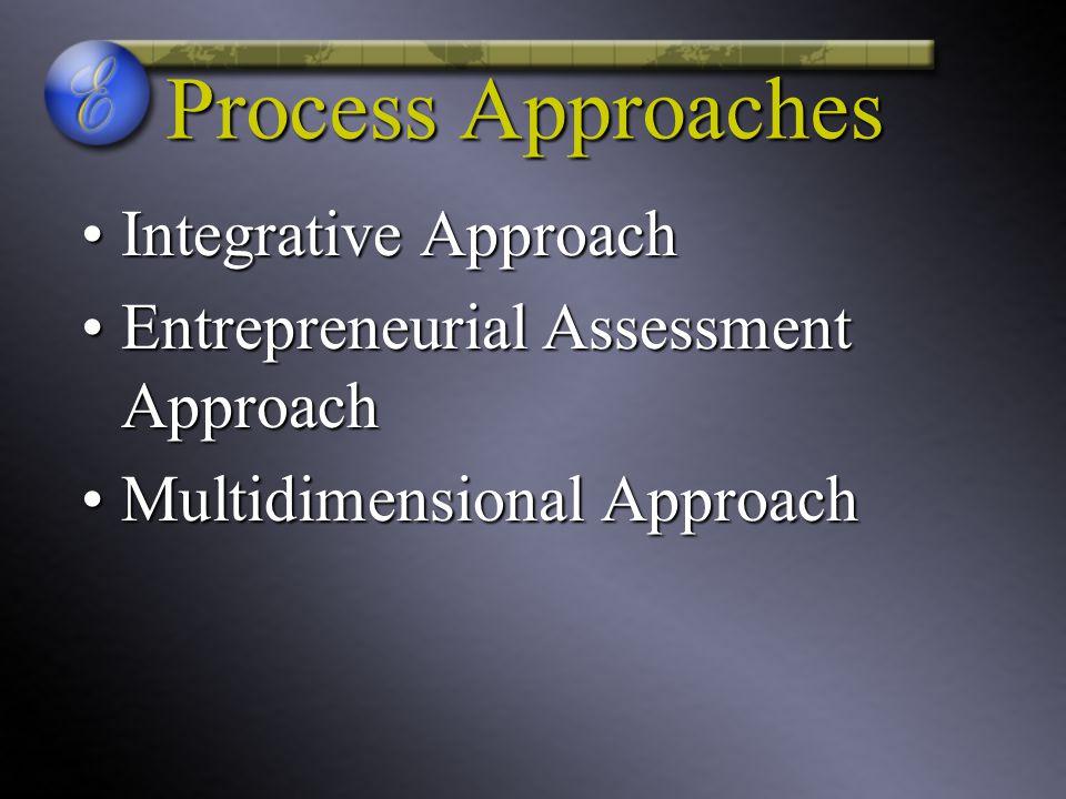 Process Approaches Integrative Approach