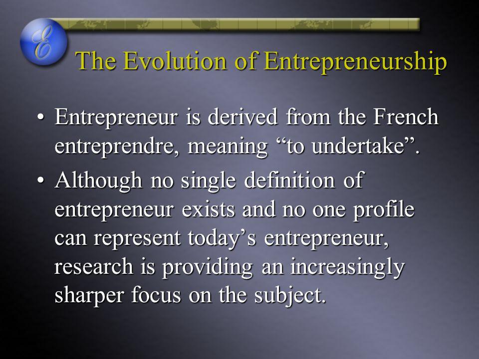 The Evolution of Entrepreneurship
