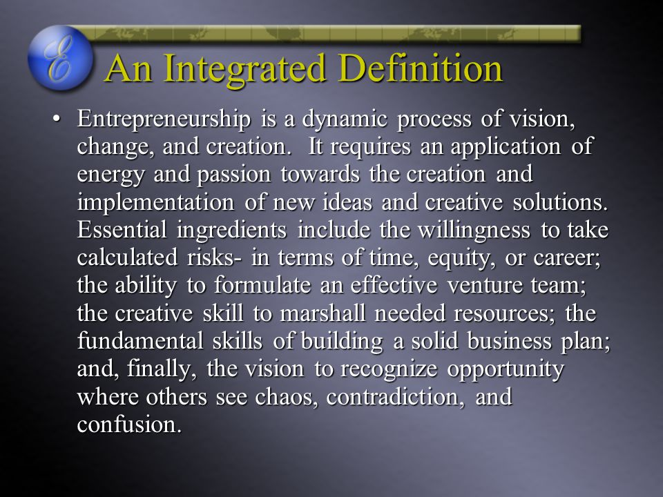 An Integrated Definition
