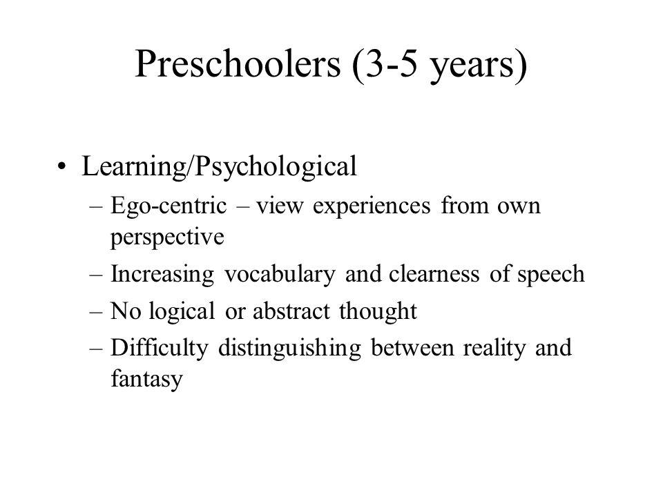 Preschoolers (3-5 years)