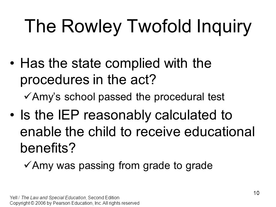 The Rowley Twofold Inquiry