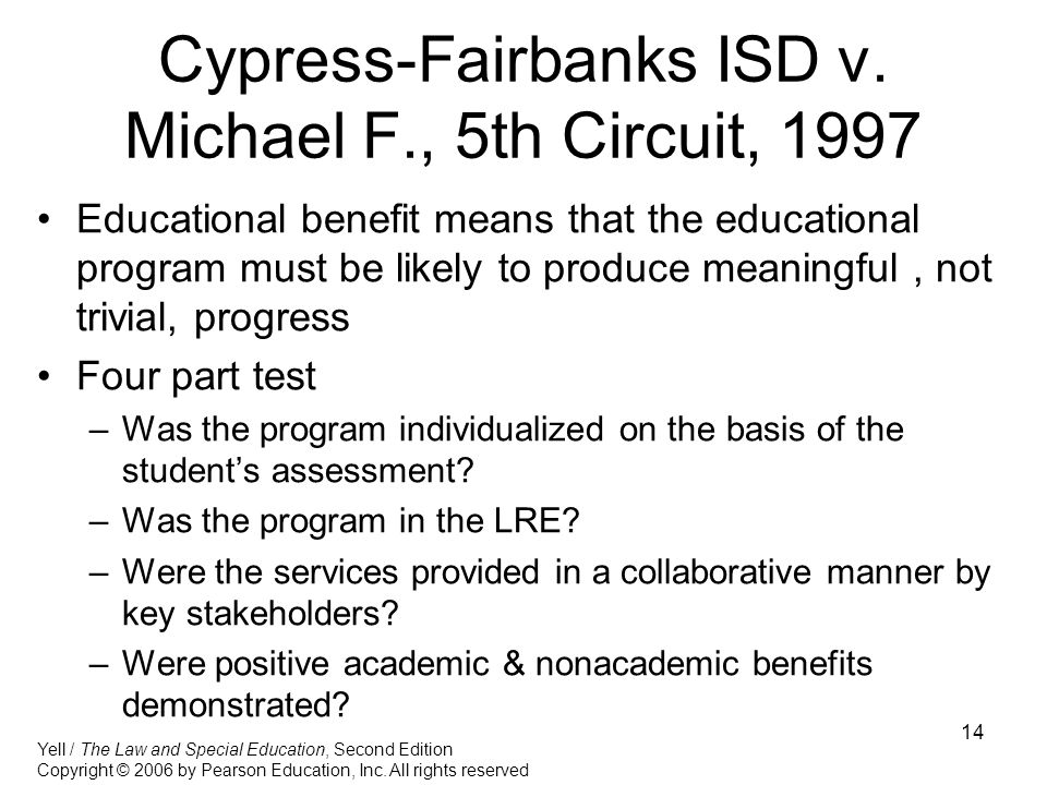 Cypress-Fairbanks ISD v. Michael F., 5th Circuit, 1997