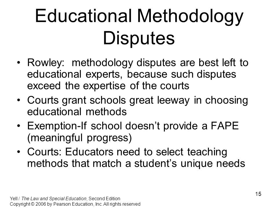 Educational Methodology Disputes