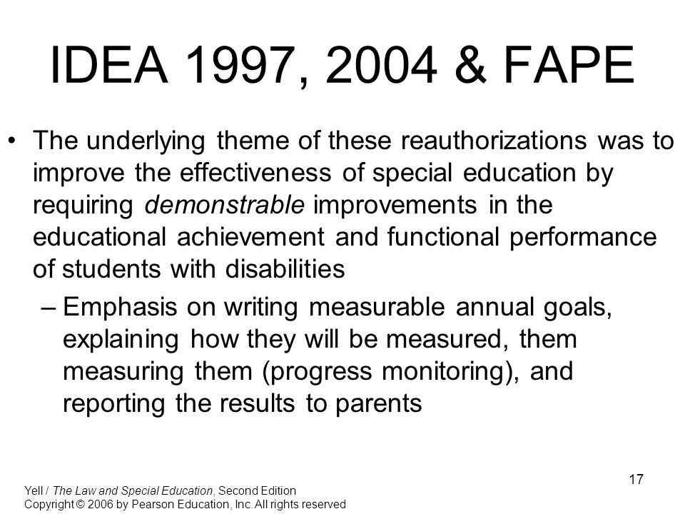 IDEA 1997, 2004 & FAPE
