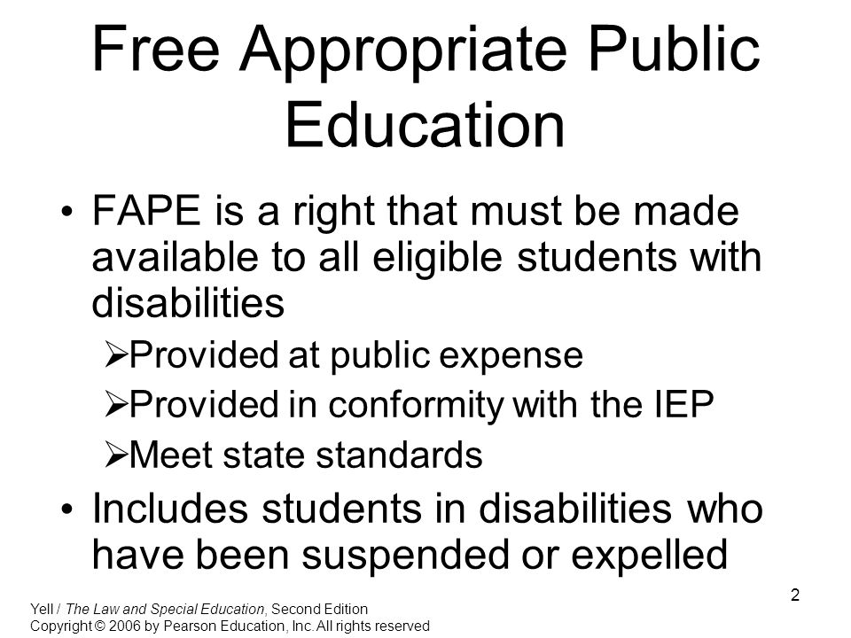 Free Appropriate Public Education
