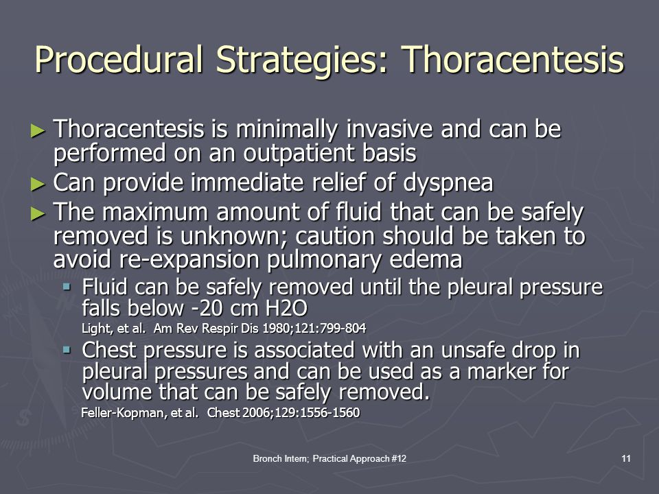 Procedural Strategies: Thoracentesis