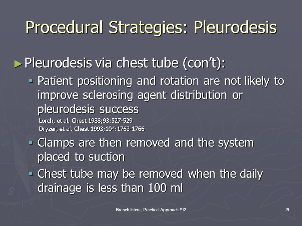 Procedural Strategies: Pleurodesis