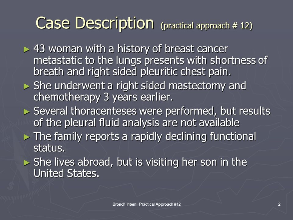 Case Description (practical approach # 12)
