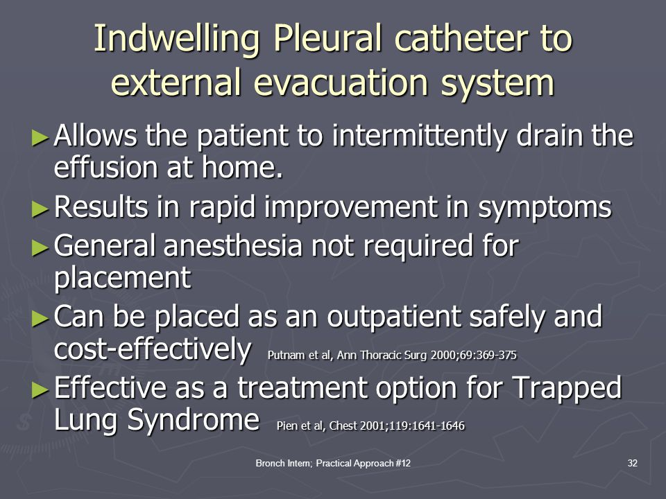 Indwelling Pleural catheter to external evacuation system