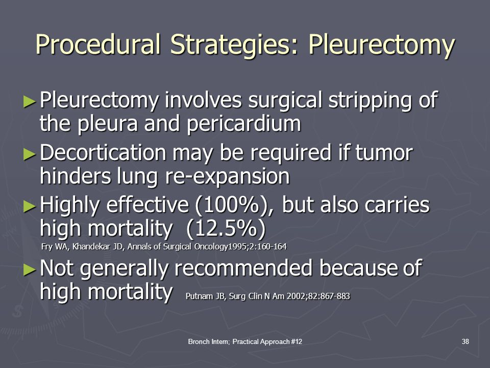 Procedural Strategies: Pleurectomy