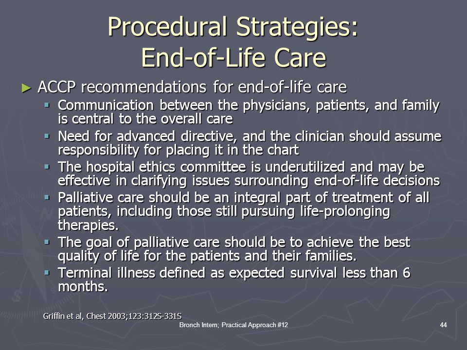 Procedural Strategies: End-of-Life Care