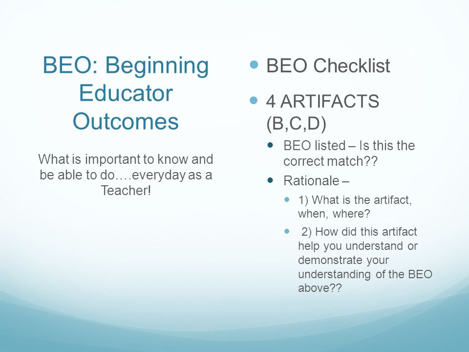 BEO: Beginning Educator Outcomes