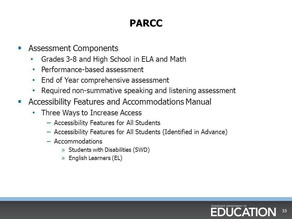 PARCC Assessment Components
