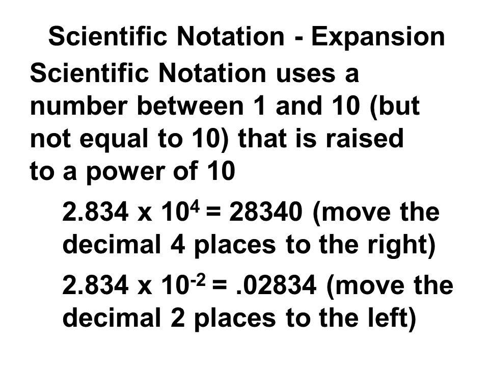 Scientific Notation - Expansion