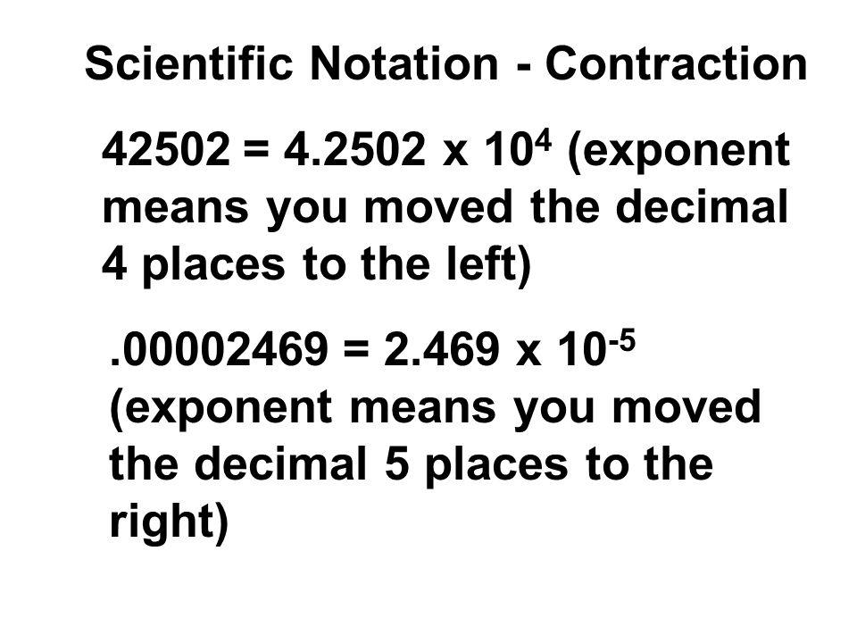 Scientific Notation - Contraction