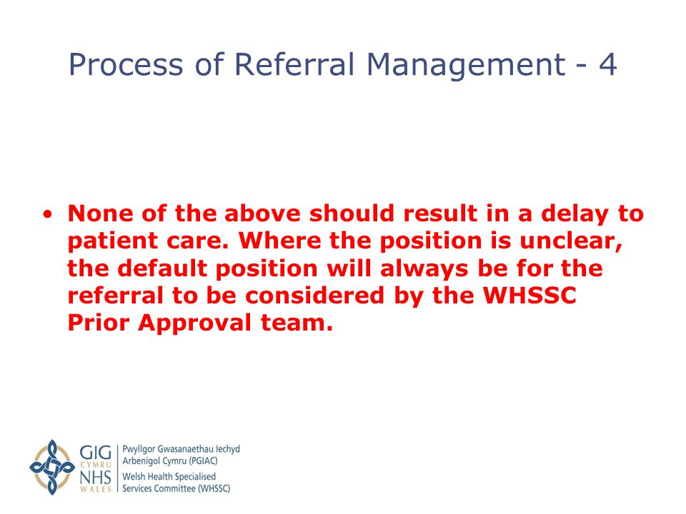 Process of Referral Management - 4