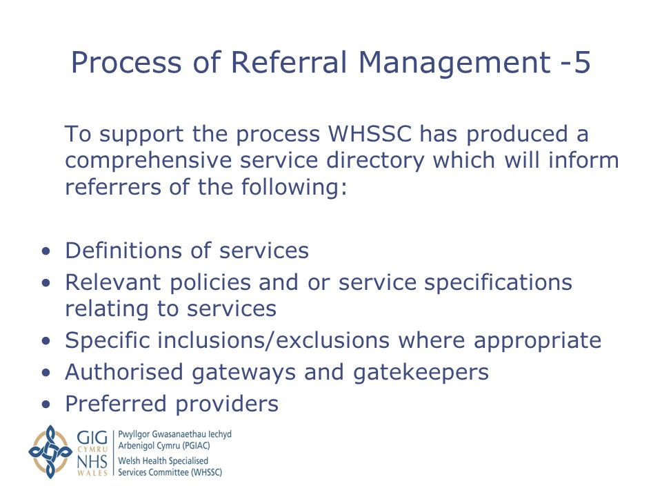 Process of Referral Management -5