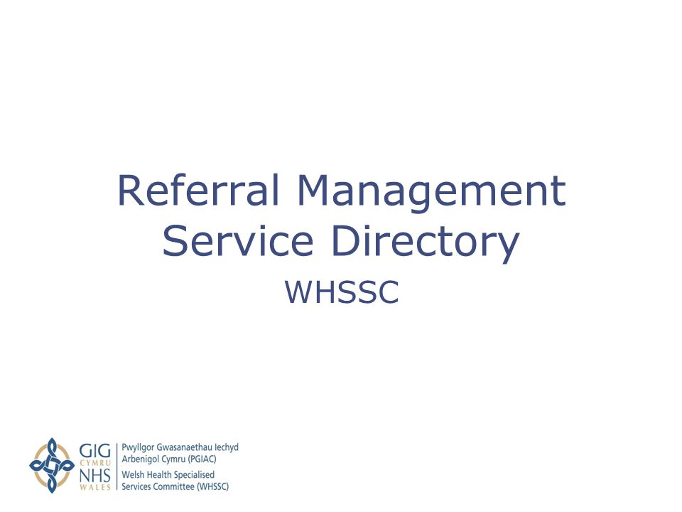 Referral Management Service Directory