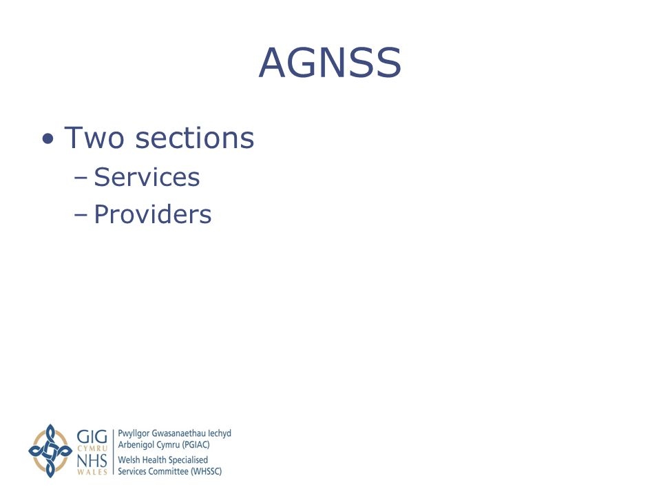 AGNSS Two sections Services Providers