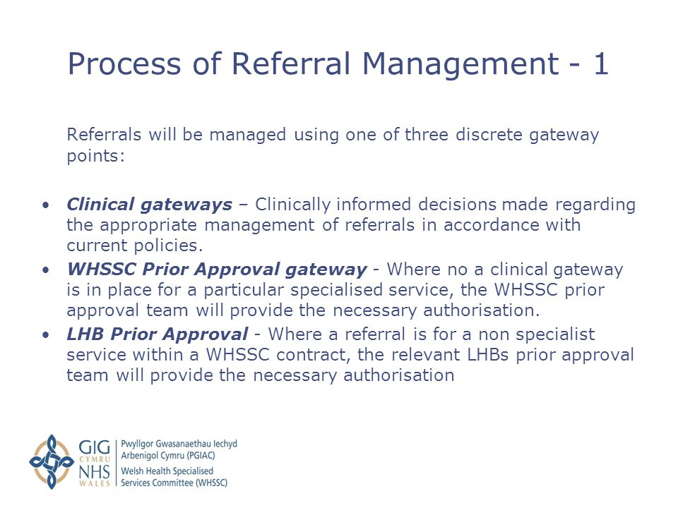 Process of Referral Management - 1