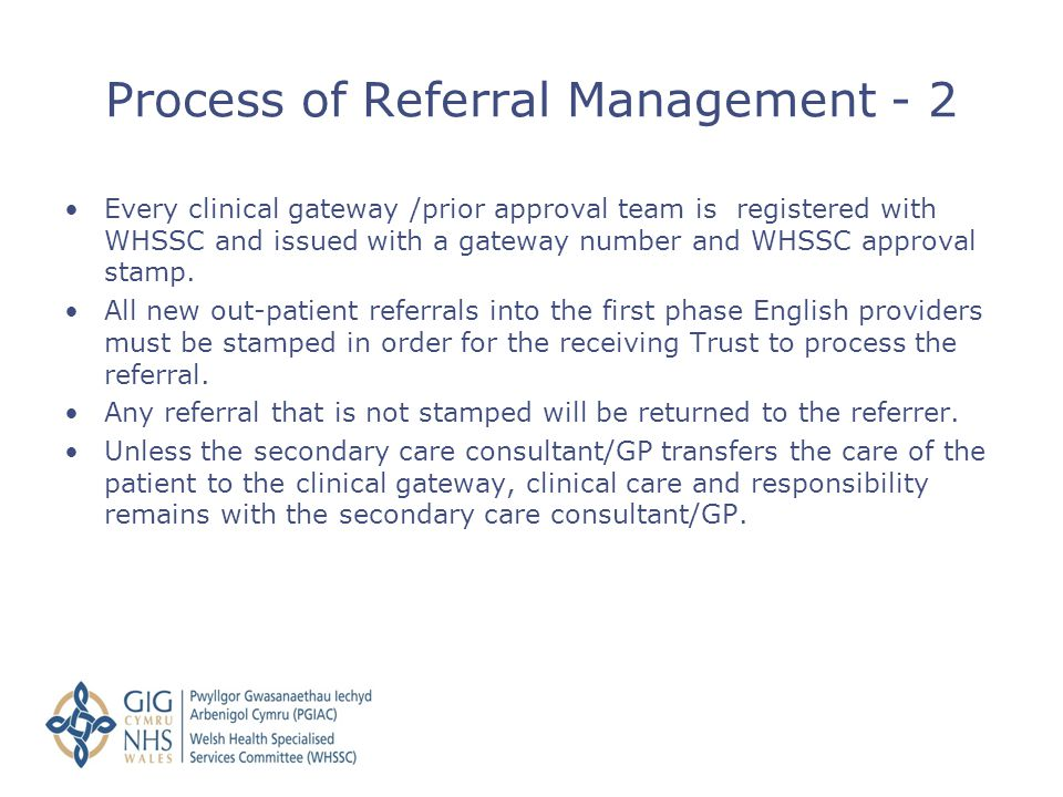 Process of Referral Management - 2