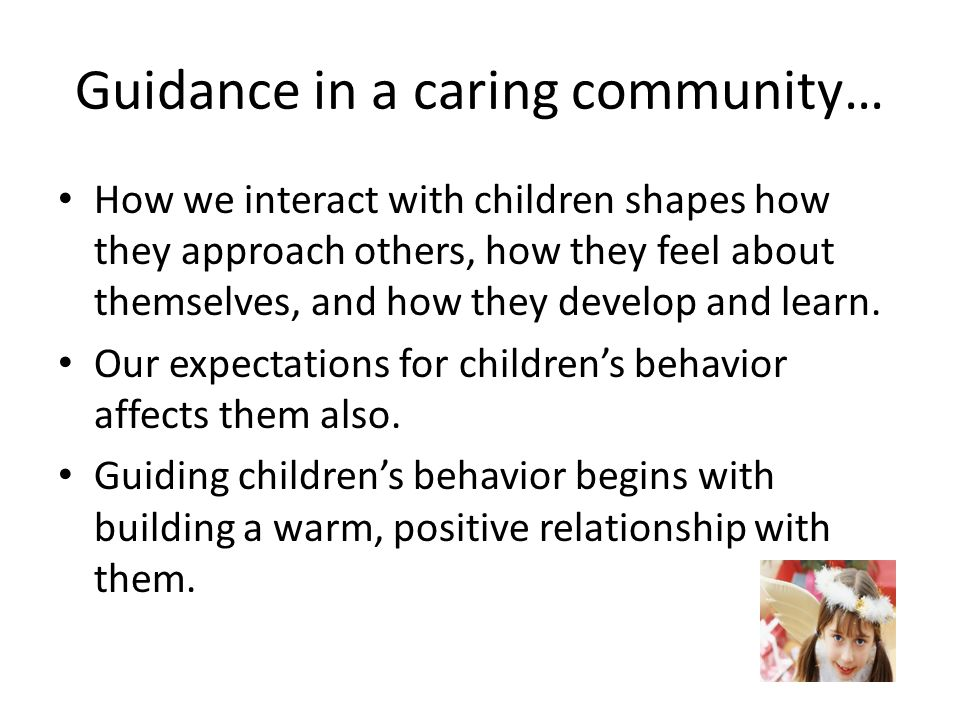 Guidance in a caring community…