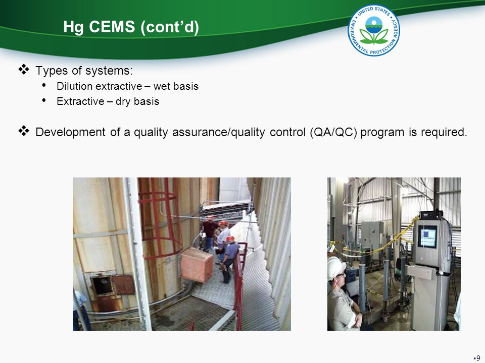 Hg CEMS (cont'd) Types of systems: