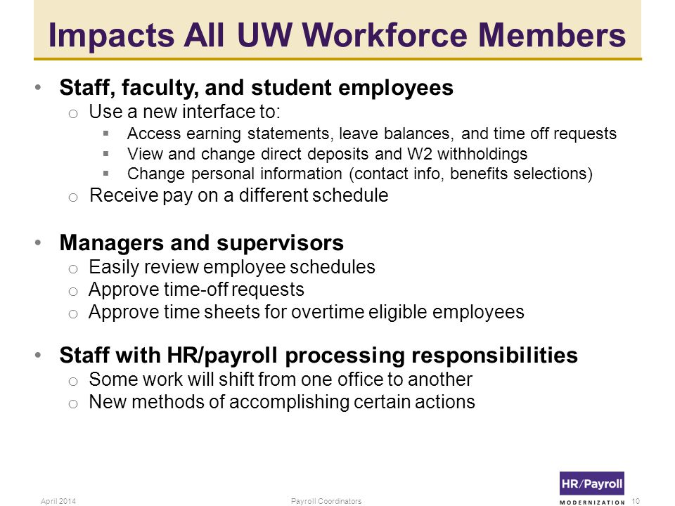 Impacts All UW Workforce Members
