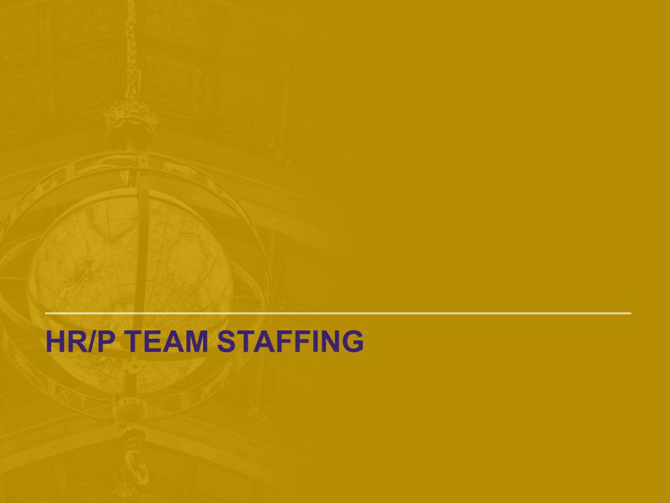 HR/P Team Staffing