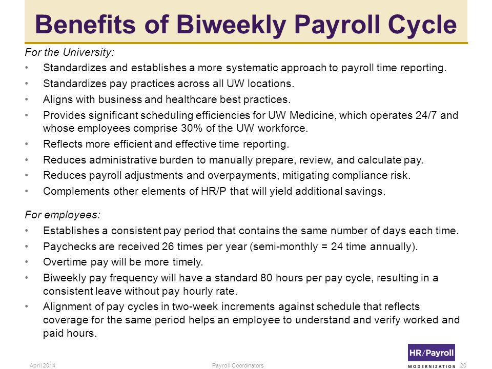 Benefits of Biweekly Payroll Cycle