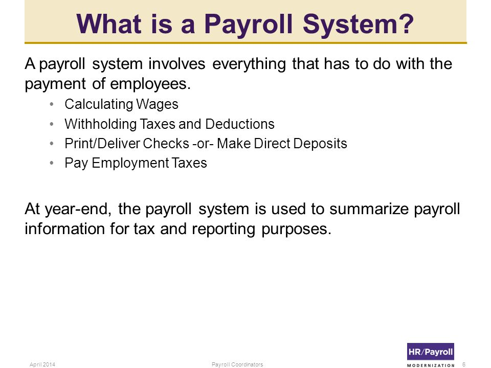 What is a Payroll System