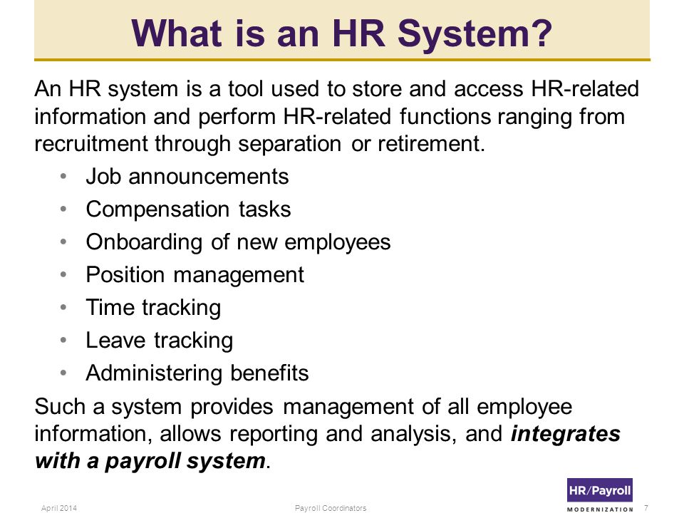 What is an HR System