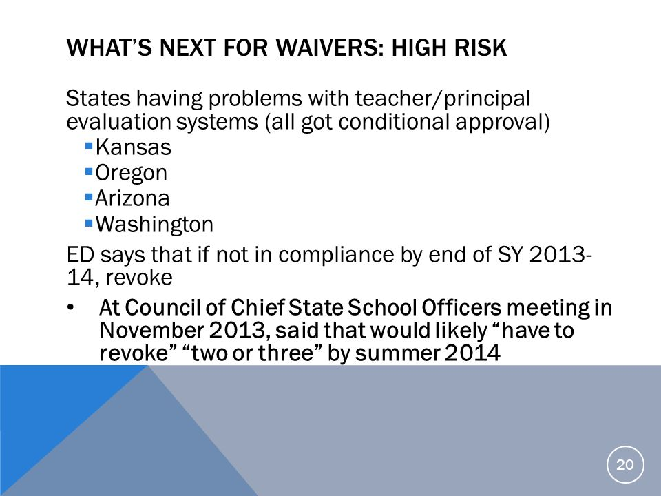 What's Next for Waivers: High Risk