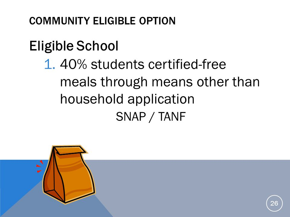 Community Eligible Option