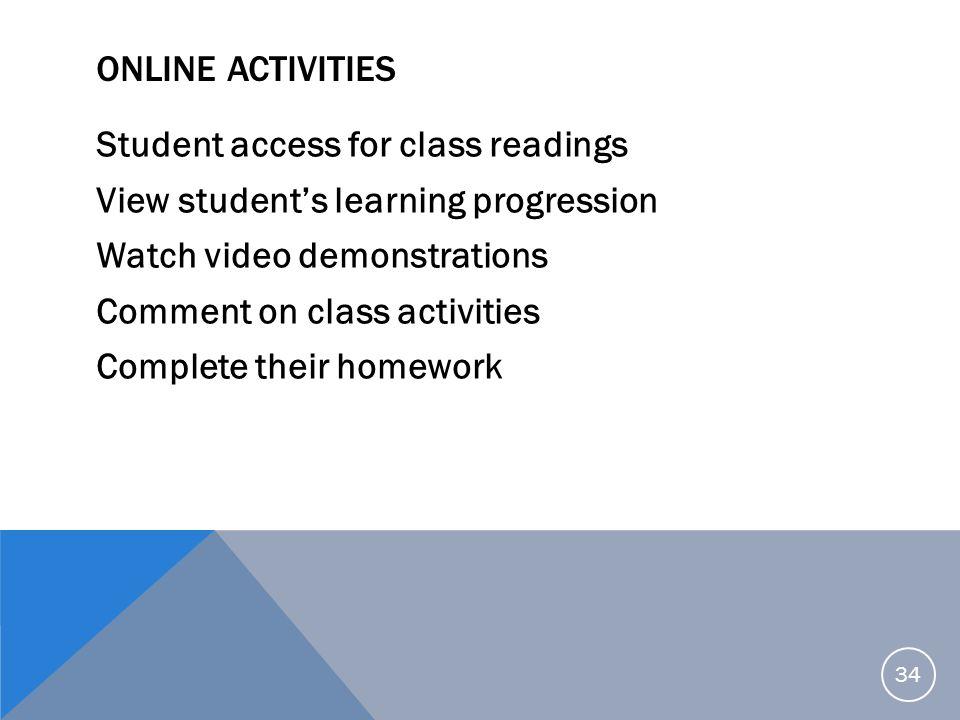 Online Activities
