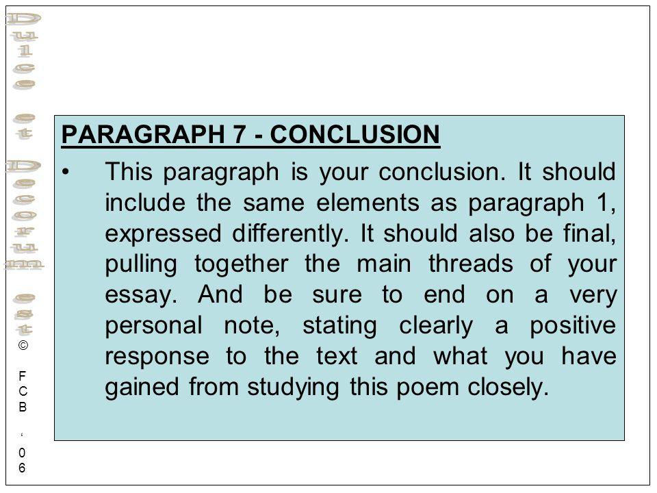PARAGRAPH 7 - CONCLUSION