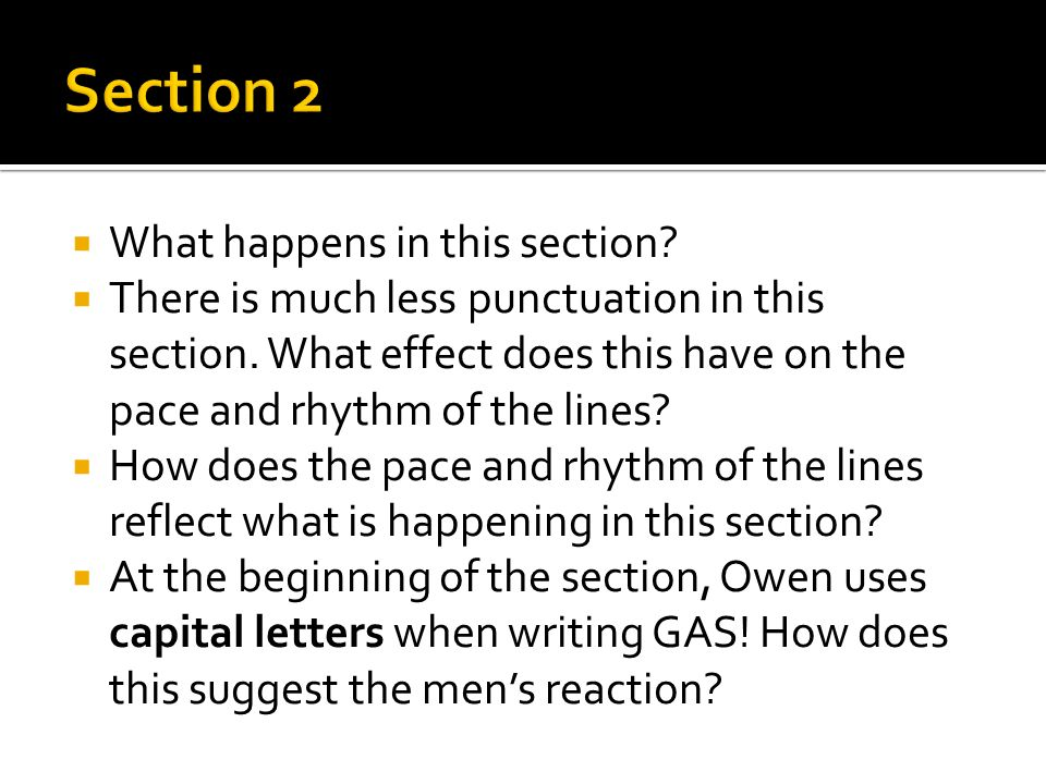 Section 2 What happens in this section