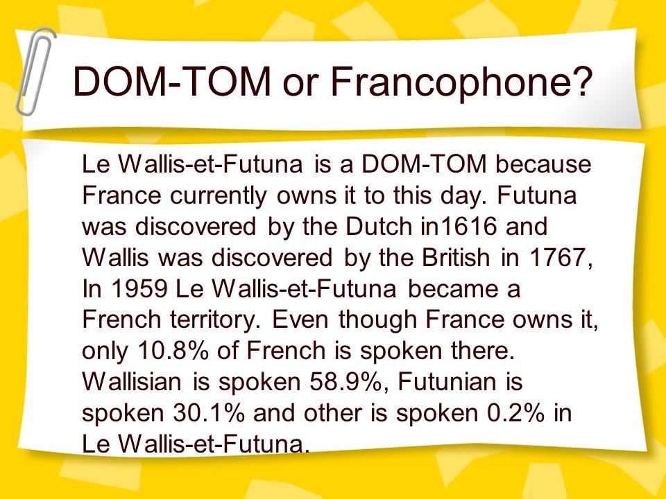 DOM-TOM or Francophone