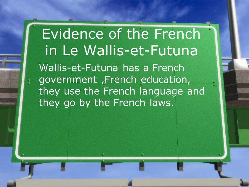 Evidence of the French in Le Wallis-et-Futuna