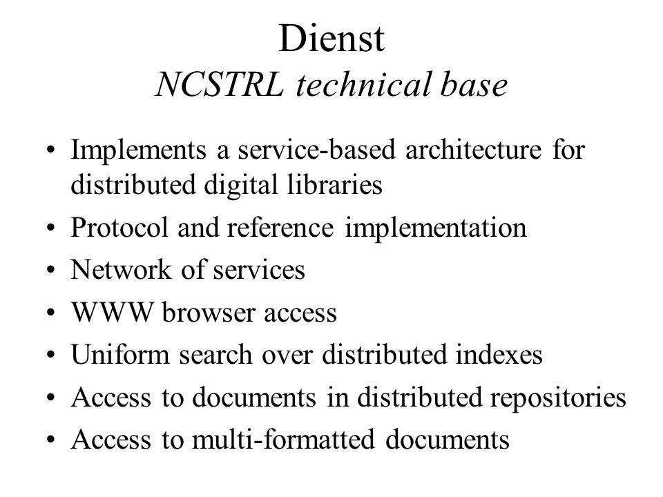 Dienst NCSTRL technical base