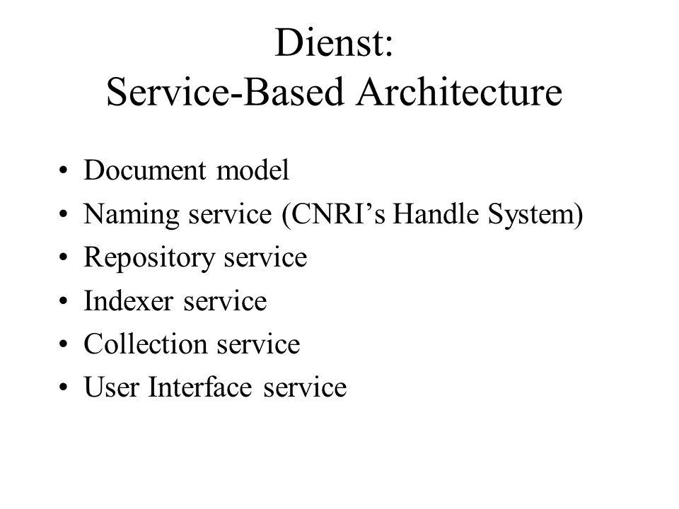 Dienst: Service-Based Architecture