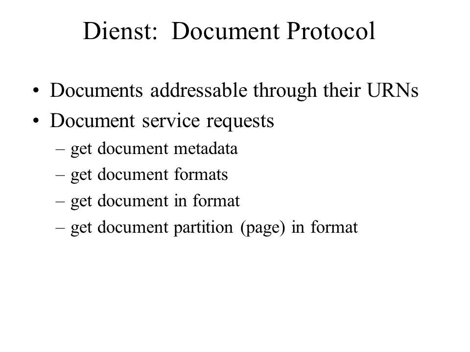 Dienst: Document Protocol