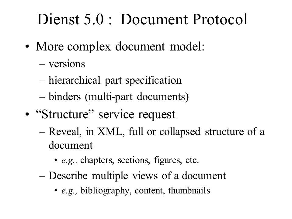 Dienst 5.0 : Document Protocol