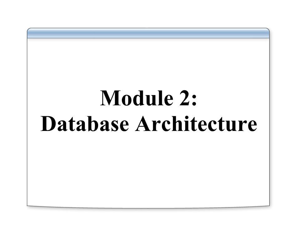 Module 2: Database Architecture