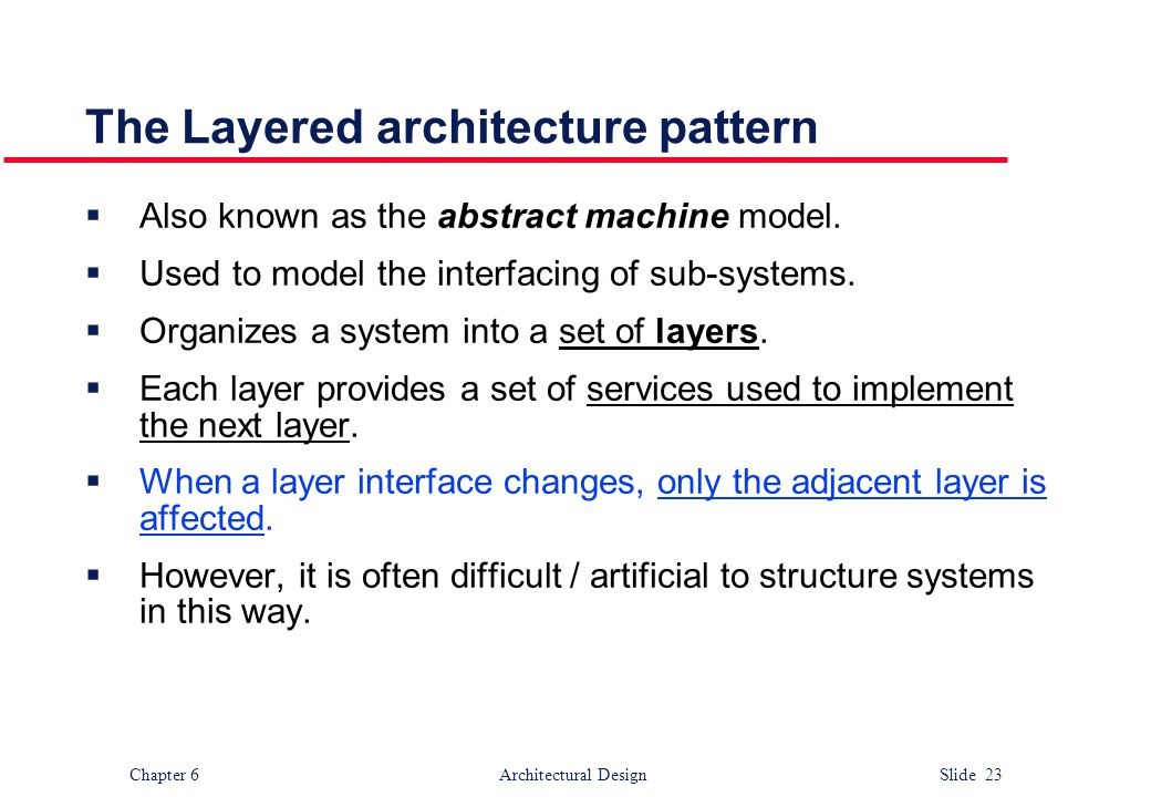 The Layered architecture pattern