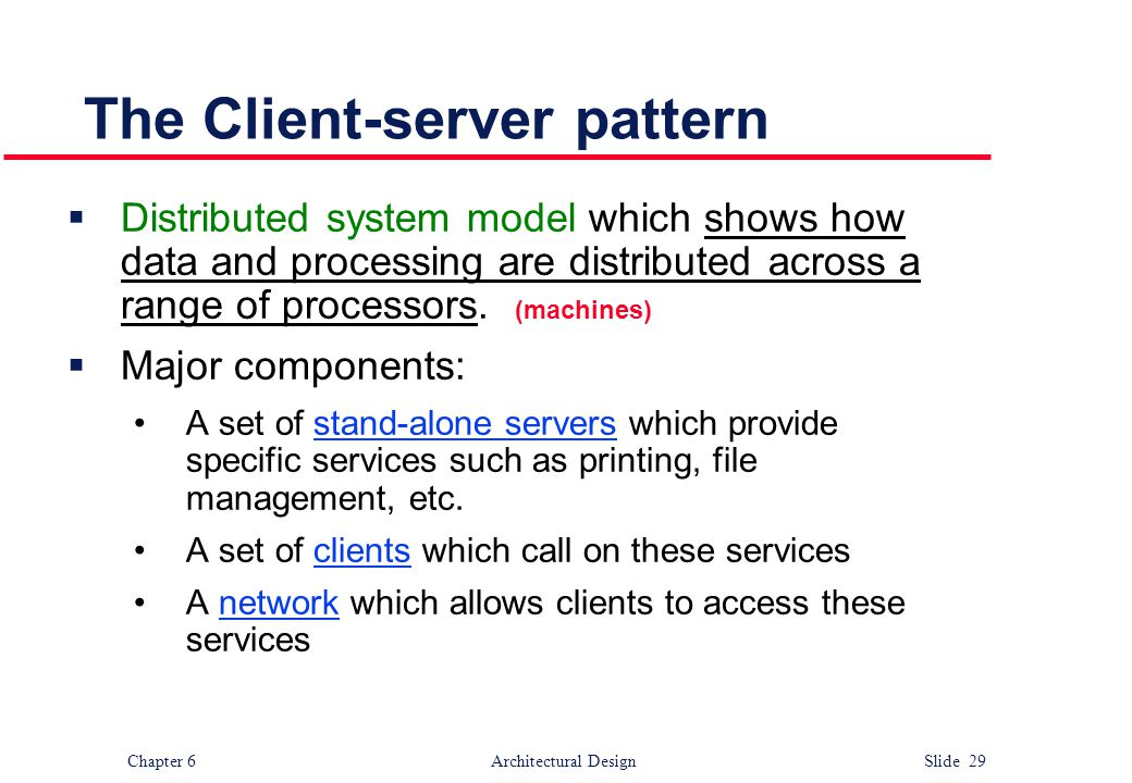 The Client-server pattern
