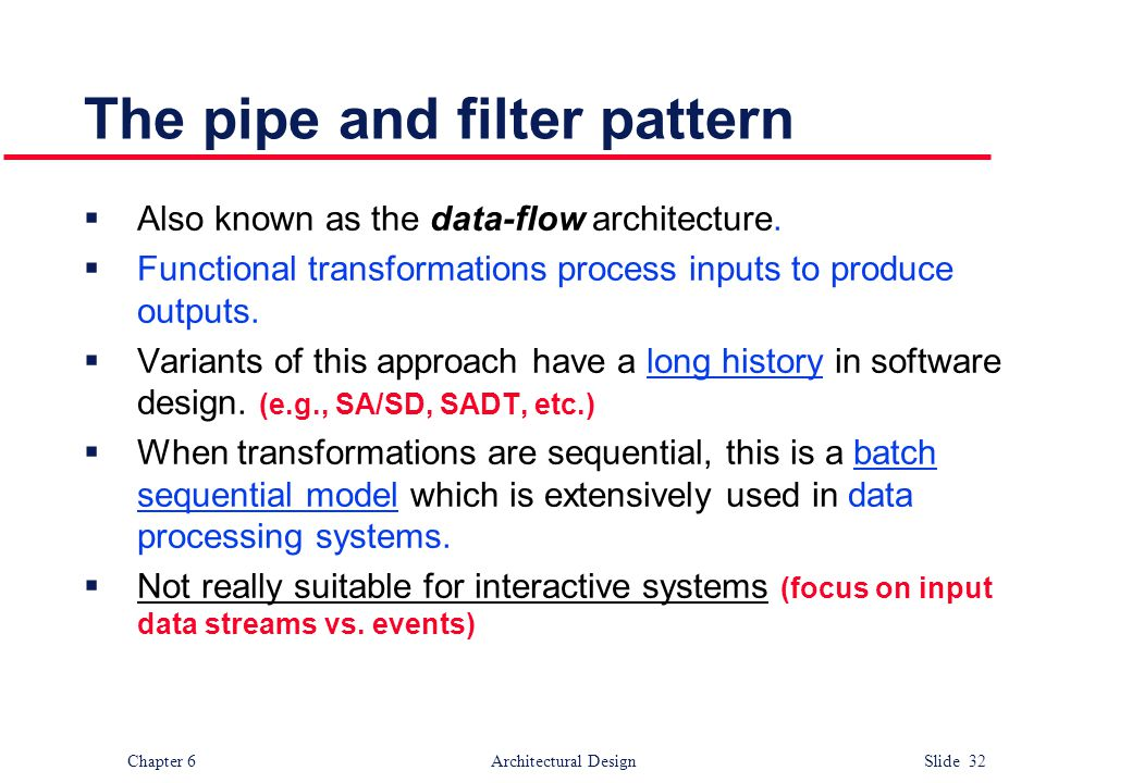 The pipe and filter pattern