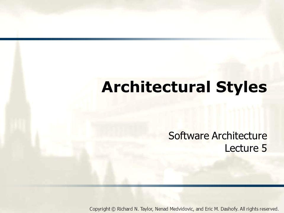 Software Architecture Lecture 5