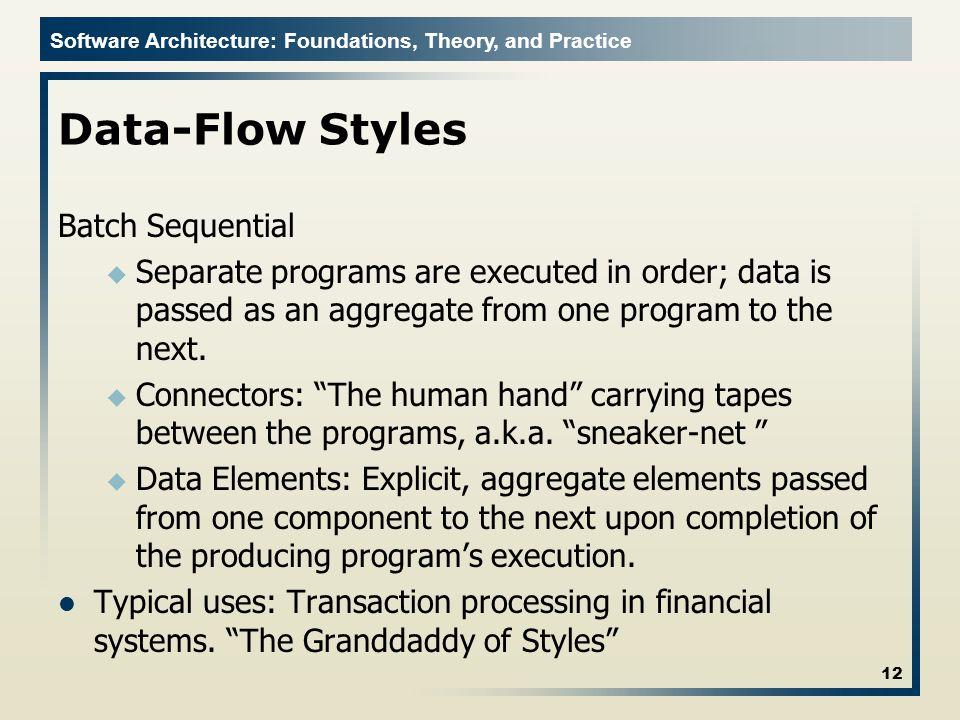 Data-Flow Styles Batch Sequential