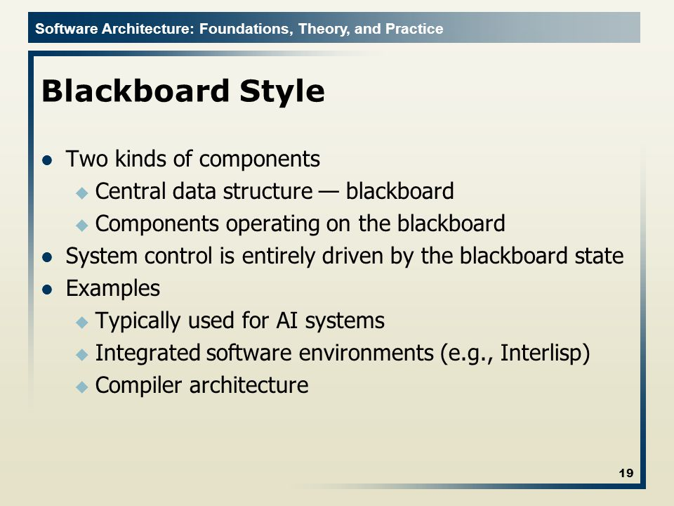 Blackboard Style Two kinds of components